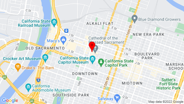 Google Map of 1013 K Street, Sacramento, CA 95814